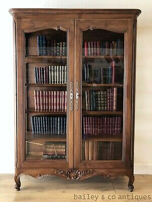 AU1575 • Buy Vintage French Vitrine Bookcase Display Glass Front Sides Louis Style - SF040