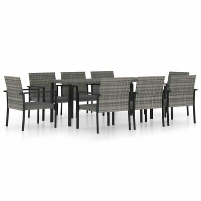 AU816.95 • Buy 9 Piece Outdoor Dinner Set Poly Rattan Table And Chairs Garden Dining Furniture