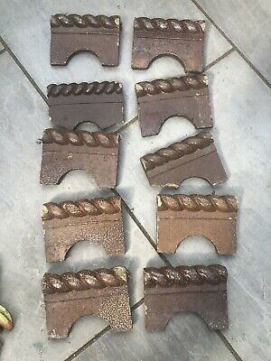 £50 • Buy 10 Reclaimed Victorian Style Rope Edging / Edge Tiles