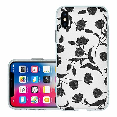 £6.95 • Buy For IPhone X Xs Silicone Case Cover Flowers Floral Gothic Print (S8884)