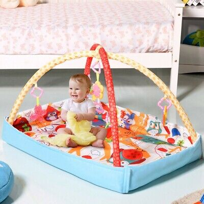 £35.61 • Buy 3 In 1 Musical Hanging Toys Baby Gym Play Mat Multifunctional Removable Bar New