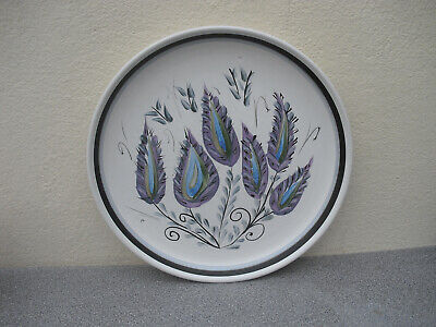 £8.50 • Buy Denby Glyn Colledge Purple Leaf Hand Painted Dinner Plate Stoneware 50s