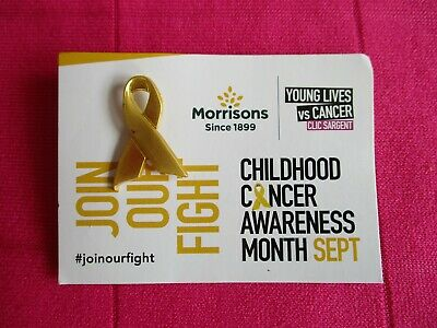 £0.99 • Buy Gold (colour) Childhood Cancer Awareness Pin