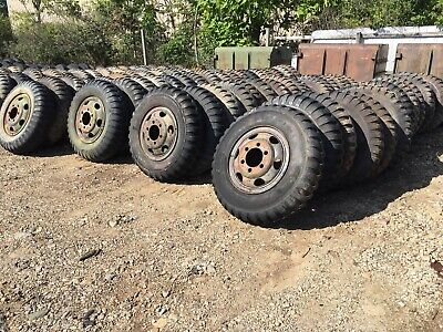 $400 • Buy Military 9.00-20 9.00x20 NDT NDCC 8 Ply Tire Med Tread On Wheel, Used, Set Of 4