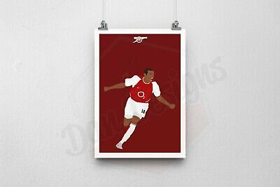 £6.49 • Buy Thierry Henry Poster Arsenal Football Print. A6/A5/A4/A3 AVAILABLE!
