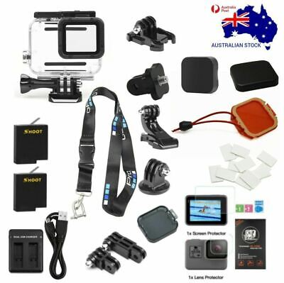 AU89.95 • Buy Accessories Pack For GoPro Hero 5, 6, 7 Black. 45m Dive Case 2x Batteries & More