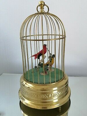 £1795 • Buy Antique German Karl Griesbaum Automaton Double Birds In Cage Rare Collectable