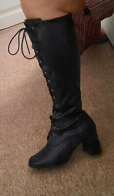 £14.99 • Buy Knee Length Lace Up Boots