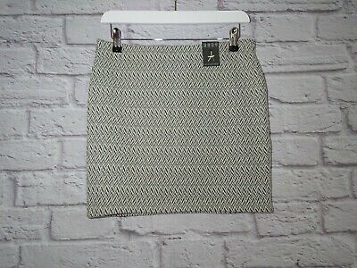 £2.99 • Buy Primark Beige Skirt Size 10 Fitted Mini Stretch Zig Zag Pattern Elasticated