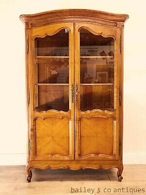AU1575 • Buy Vintage French Vitrine Bookcase Display Cabinet Louis Style Glass - SF030
