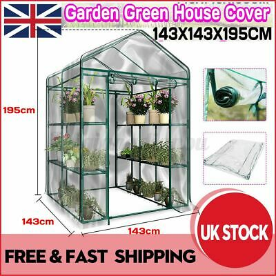 £26.99 • Buy Walk In Greenhouse PVC Cover Garden Grow Green House Without Frame