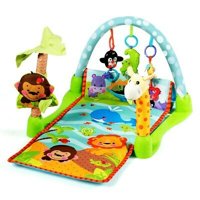£33.84 • Buy Baby Play Gym Mat With 3 Removable Hanging Educational Toys Pendant 4 In 1 New