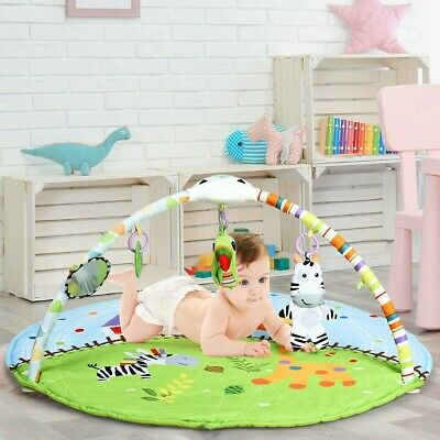 £38.26 • Buy Baby Activity Educational Gym Play Mat With Hanging Toys Thick Padded With Music