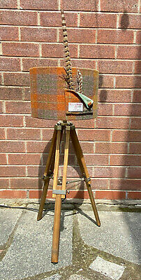 £65 • Buy Tripod Wooden Lamp With Harris Tweed Lampshade
