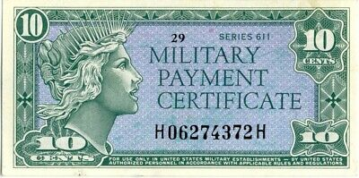$49.99 • Buy Military Payment Certificate Series 611 10 Cents. UNC. Crisp And Clean.