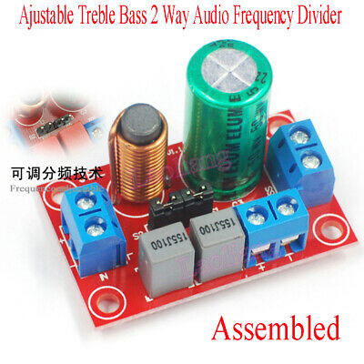 AU8.14 • Buy Ajustable Treble Bass 2 Way Audio Frequency Divider Speaker Crossover Filters