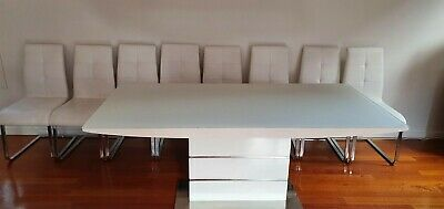 AU250 • Buy 8 Seater Opal White Dining Table And Chairs