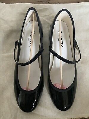 £230 • Buy Repetto Rose Black Patent Mary Jane Shoes 39 - Worn One Time