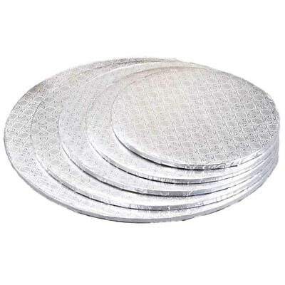 £2.89 • Buy High Quality Strong Silver Cake Boards Round And Square 10  Base Wedding Party