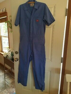$45 • Buy Vintage Excellent Used Dickies Mens Short Sleeved Coveralls Blue Chambray Medium