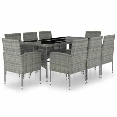 AU718.95 • Buy 9 Pcs Patio Dining Set Furniture PE Rattan Outdoor Table And Chairs With Cushion