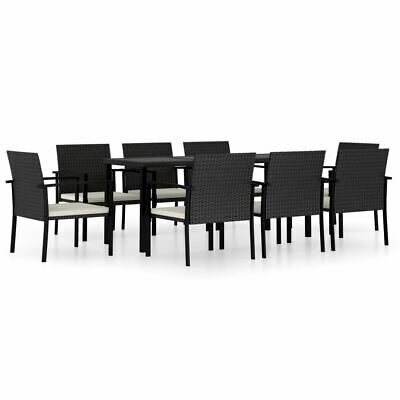 AU722.95 • Buy Garden Dining Set 9 Pcs Poly Rattan Table And Chairs Cushion Outdoor Furniture