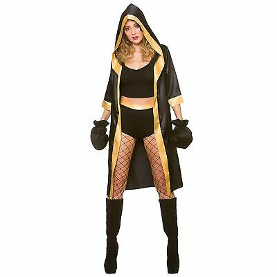 £15.99 • Buy Knockout Boxer Fighter Boxing Warrior Champion Adults Womens Fancy Dress Costume