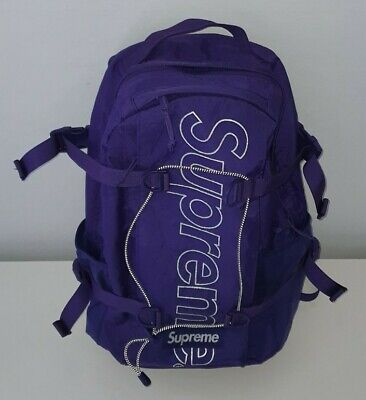 $ CDN432.78 • Buy FW18 Supreme Purple Backpack 3M Reflective Logo 24L Water And Abrasion Resistant