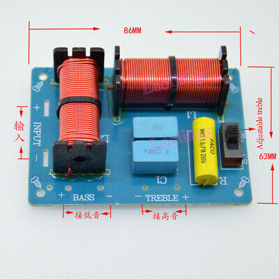 AU8.57 • Buy 1pcs Treble Bass 2 Way 2 Unit Speaker Audio Frequency Divider Crossover Filters
