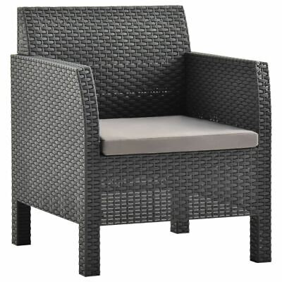 AU190.95 • Buy Outdoor Armchair With Cushion PP Rattan Finish Patio Porch Chair Seat Furniture