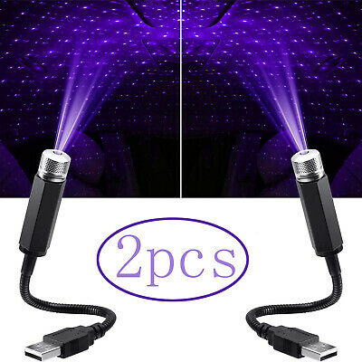 £7.69 • Buy 2pcs Car Accessories Interior USB Atmosphere Sky Lamp Ambient Star Night Lights