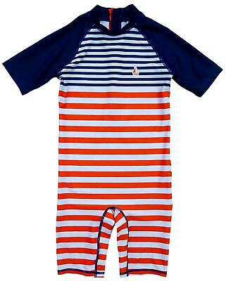 £7.99 • Buy Boys Swimsuit Nautical Stripe All In One Costume Sunsafe 3 Months To 7 Years