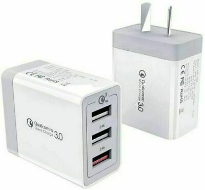 AU8.60 • Buy 30W QC 3.0 Fast Charging 3 USB Wall Charger Adapter For Iphone & Samsung AU Plug