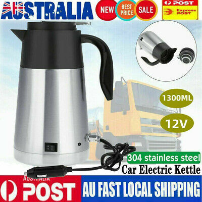 AU40.99 • Buy 12V 1300ml Portable In-Car Truck Stainless Steel Kettle Camping Travel Water Cup