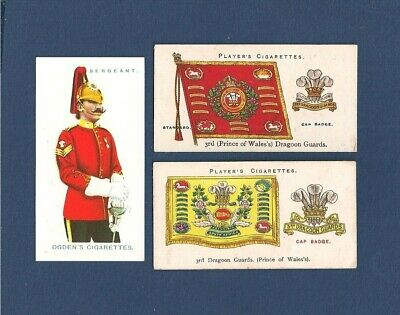 £3.95 • Buy 3rd DRAGOON GUARDS Prince Of Wales's Uniform Drum Banner & Cap Badge Cards