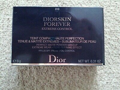 £32 • Buy Dior Diorskin Forever ( 010 Ivory) Perfect Matte Powder Makeup, Brand New