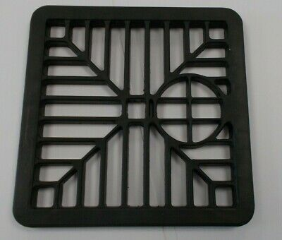 £4.50 • Buy Black Plastic Square Drain Gully Cover Grill  150mm/6