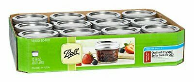 $25.86 • Buy Ball Mason 4oz Quilted Jelly Jars With Lids And Bands, Set Of 12