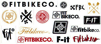 £4.95 • Buy Fit Bike Co BMX Sticker Sheet - 16 Stickers - Size 23cm Cycle New & Official