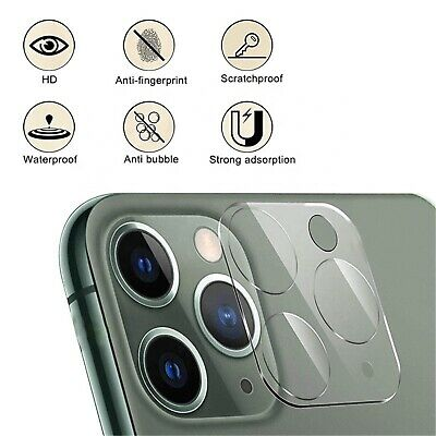 £2.99 • Buy IPhone Camera Lens Protector Tempered Glass For IPhone 12 11 Pro Max Case 9H
