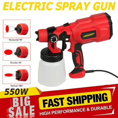£30.10 • Buy 800ML Electric Spray Gun Paint For Cars Home Wood Furniture Wall Sprayer 550W UK
