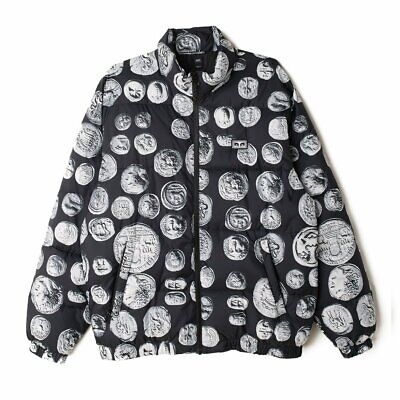 £71.89 • Buy Mens OBEY Clothing Loot Coins Puffer Jacket Black