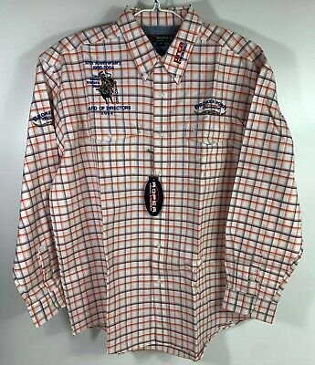 $44.99 • Buy ROPER Rodeo/Western Cowboy Striped Button-Up Sponsors Embroidered Mens Shirt XL