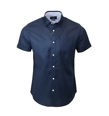 £5.99 • Buy Men's Cotton Navy Blue Summer Quality Holiday Casual SS Shirt C138