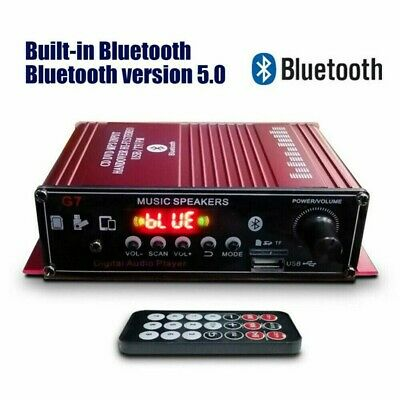 £15.83 • Buy Car Digital Bluetooth HiFi Power Amplifier Home Audio Stereo FM AMP With Remote