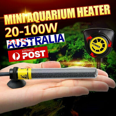 AU14.26 • Buy 40-100W Aquarium Fish Tank Water Submersible Automatic Thermostat Heater Heating