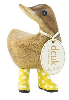 £18 • Buy DCUK Natural Finish Ducky In Yellow Spotty Welly Boots
