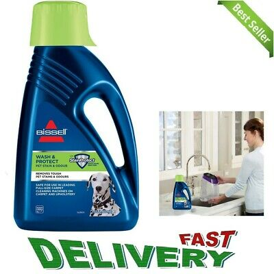 £20.89 • Buy Bissel PET CARPET SHAMPOO Cleaner Wash And Protect Fragrance Bleach-Free 1.5L
