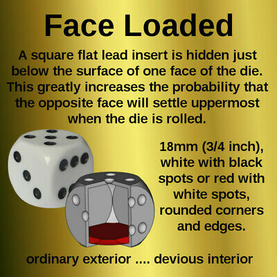 £10 • Buy Loaded Dice, Rolls Desired Number - 6 Options Available, Magic, Trick, Weighted.
