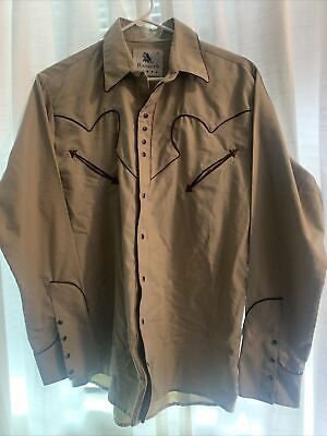 $20 • Buy Ranger's Men's Long Sleeve Embroidered Pearl Snap Western Shirt Small